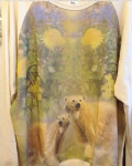 Ladies sweater 'Polar bears in garden' - free size